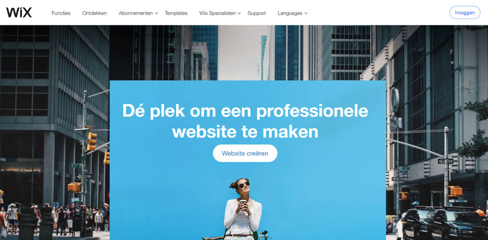 WordPress vs Wix - Homepage Wix